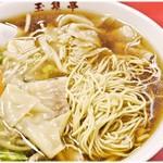 玉泉亭 - かなりの細麺です。