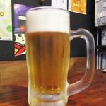 市場屋台 ええかげん - 生ビール・オリオンビール ドラフト 450円。      2017.10.15