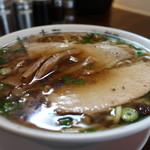 麺や 太華 - 中華そば(麺固め、味薄め)アップ