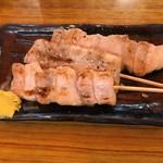 鈴芳 - 「豚バラ串 (3本セット 塩)」450円