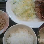 お好み焼 金太 - ハンバーグ定食