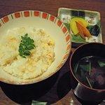 螢月 - 食事(竹の子おこわ)