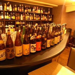 500種以上!ワイン・日本酒・焼酎・カクテル・梅酒・サワー等