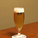 明神下 神田川 - 生ビール