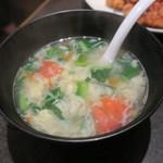 唐苑 - トマトと玉子のスープ