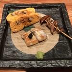 大阪うなぎ組 - 焼き物:肝焼き・うまき・白焼き