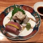 Oosakaunagigumi - 本日のお造り:鱧・金目鯛