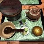 大阪うなぎ組 - お食事:ひつまぶし・肝吸い・香物