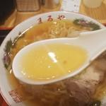 老麺 まるや - 喜多方ラーメンのスープ