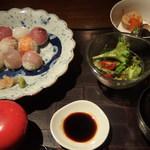 松江の台所 こ根っこや - (2017年07月)手まり寿司ランチ