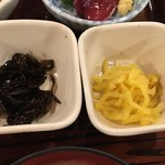 かぶき - 小鉢と漬物