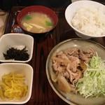 日本橋 かぶき - ランチ友の豚生姜焼き定食