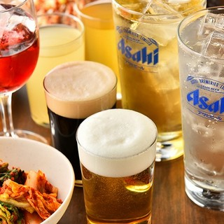 【焼肉初】生ビール、生マッコリ、他100種類飲み放題300円