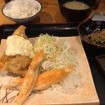 九州 熱中屋 - チキン南蛮&ハラス定食 780円。