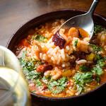 トマトとタコのスープご飯