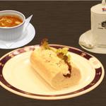 ロンドンティールーム - バゲット+野菜スープ
