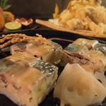 がいがい、 - 鯖の押し寿司