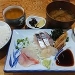 ぬくもり - 刺身定食(税込)500円