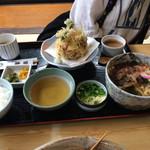 砂場 - ランチかき揚げうどん850円 かき揚げが美味しい!天つゆが少し濃すぎかなぁ?