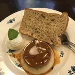 コビアン - ケーキセット(シフォンケーキとお好きな1品)300円+税