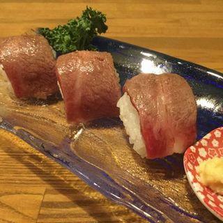 飛騨牛の肉寿司