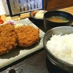牛かつ いち華 - 定食