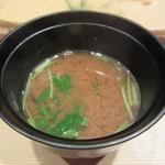 74973614 - お味噌汁(シジミ&三つ葉)