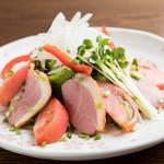 ちゅるり - 鴨とトマトのサラダ ¥580