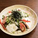 ちゅるり - おとうふのたぬきサラダ ¥580