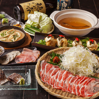 【宴会には】九州の旨い料理を揃えた飲み放題付コース♪