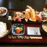 食彩やクレソン - 本日のランチC 和風三色の盛合せ  ¥900-