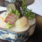 フレンチレストラン 蔦の葉 - 和ランチ ¥2940 お造り