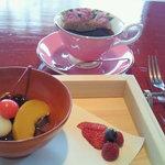 フレンチレストラン 蔦の葉 - 和ランチ ¥2940 デザート