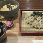 めん処譽紫 - ざるセット親子丼