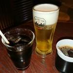 京まる - 乾杯はアイスコーヒー・生ビール・ホットコーヒー((o(^∇^)o))