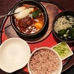 京まる - 煮込みハンバーグ定食(玄米)