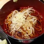 74989286 - (小)海鮮ばくだん丼と半蕎麦セット