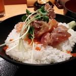 74989295 - (小)海鮮ばくだん丼と半蕎麦セット