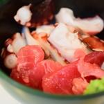 鹿島屋 - 刺身(蛸 & 鮪)