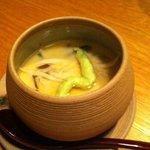 7499052 - お食事前のお楽しみ♪しらす&山菜入りの茶わん蒸し