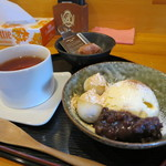 74991221 - 「白玉クリームぜんざい」&「紅茶」(2017年10月)