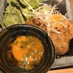 日本酒バル米酒 - 鶏つくね
