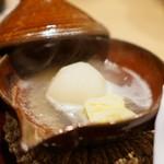 御幸町 田がわ - 干し海老出汁の貝柱、蕪炊き、白菜