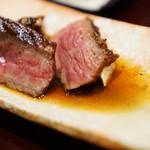 御幸町 田がわ - 常陸牛の炭焼すきやき風、松茸焼き