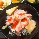 海鮮亭 いっき - 二色丼(イクラ・カニ身)
