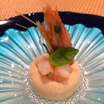 マルコ 102 - 前菜:海老と豆腐のブランマンジェ