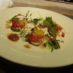 トラットリア フィオーレ - マグロのカルパッチョ