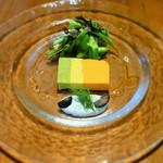 瓦町ダイニング タートルズ - 夏野菜のムーステリーヌ ディルクリームとサラダ添え