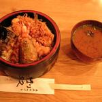 利久 - 利休 天丼と味噌汁