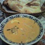 南インド料理胡椒海岸マラバールエクスプレス - チキンバターとナン